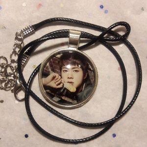 Kpop BTS Jin Silver Pendant Necklace